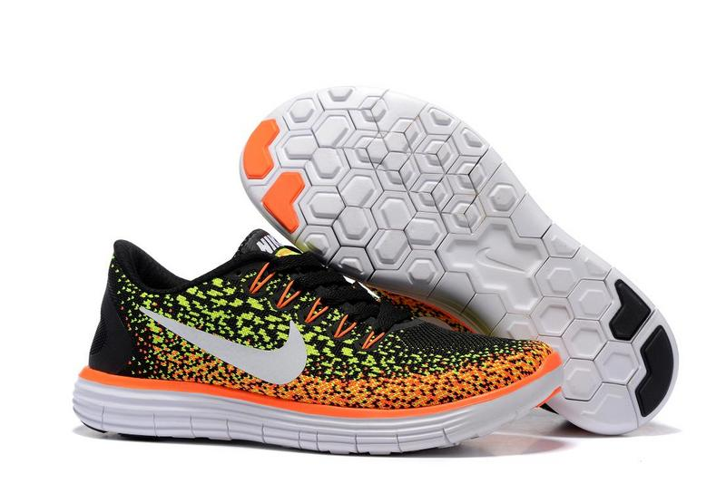 2016 Nike Free DN Distance Black Orange Fluorscent White Women Shoes