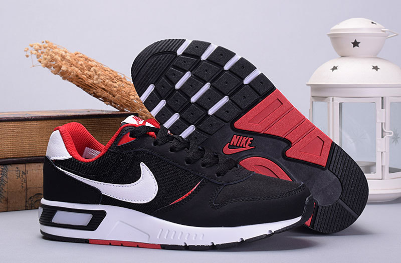 2016 Nike NightGazer Black Red White Women Shoes