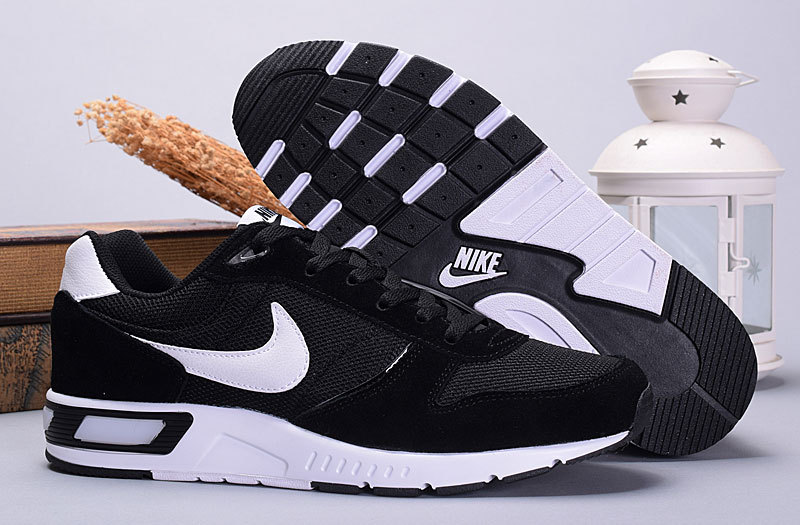 2016 Nike NightGazer Black White Women Shoes