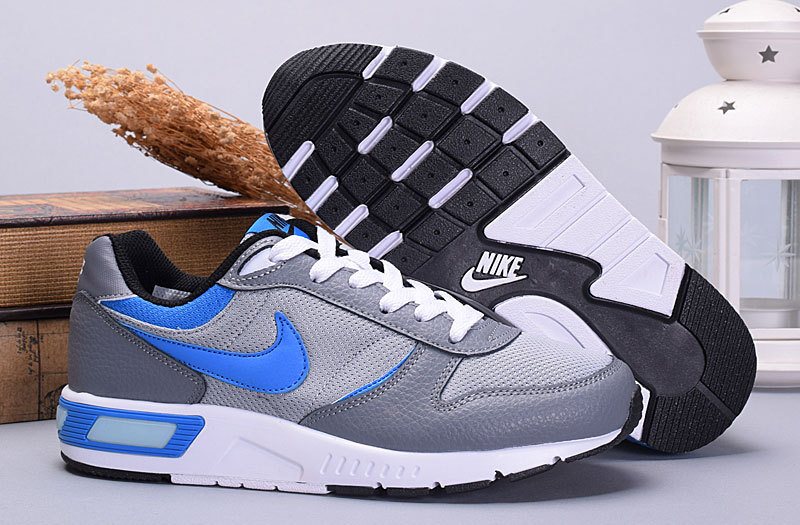 2016 Nike NightGazer Grey Blue White Shoes