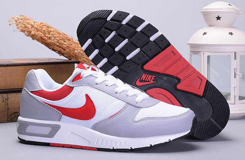 2016 Nike NightGazer White Grey Red Shoes