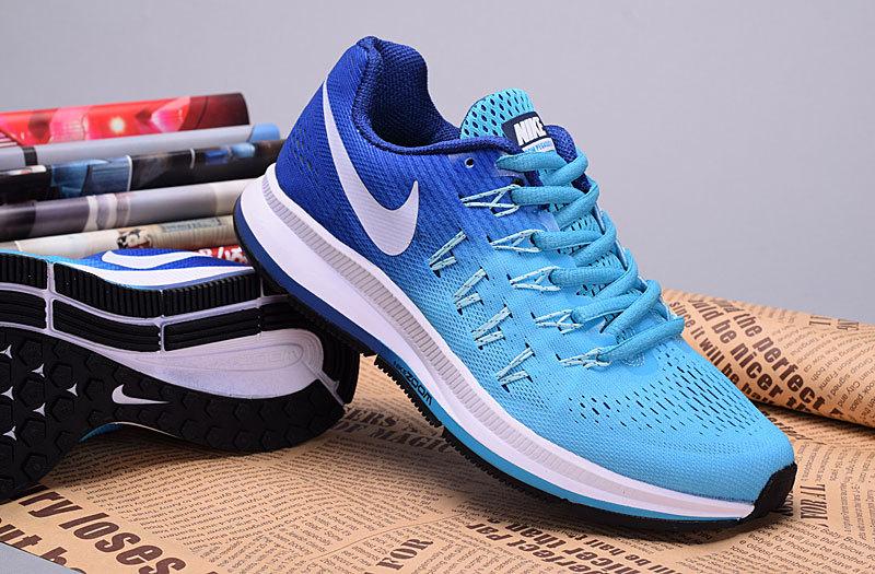 new styles 0da16 113c0 2016 Nike Zoom Pegasus 33 Women Baby Blue Shoes