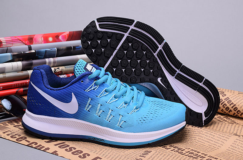 2016 Nike Zoom Pegasus 33 Women Baby Blue Shoes