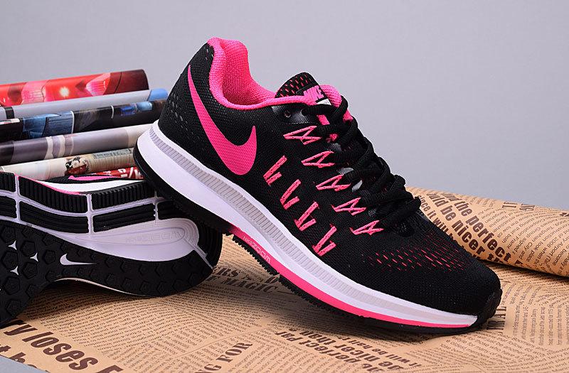 Women Nike Air Zoom Pegasus V12 Black White Shoes
