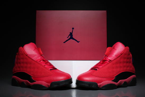 "2017 Air Jordan 13 ""What Is Love"" Gym Red Black Shoes"