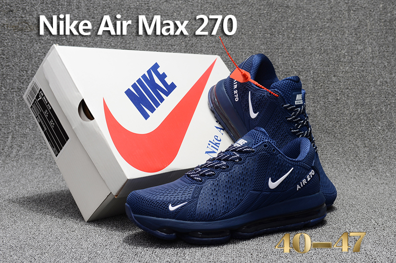 2017 Men Nike Air Max Flair Deep Blue White Shoes