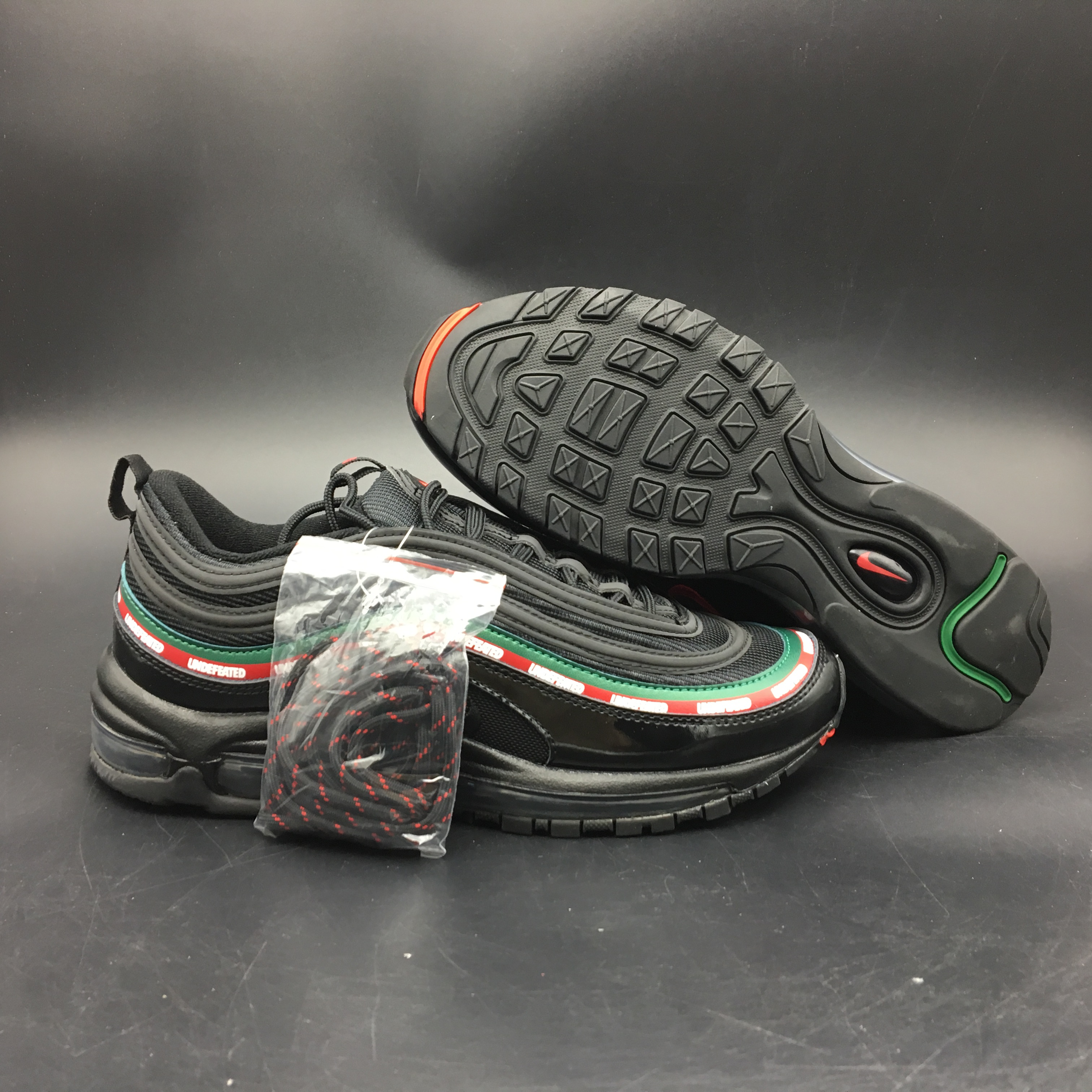 2017 Men Undefeated x Nike Air Max 97 Black Colorful