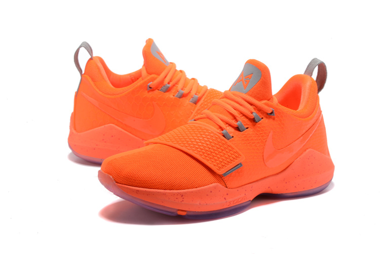 2017 Men Nike Air Zoom PG 1 All Orange Shoes
