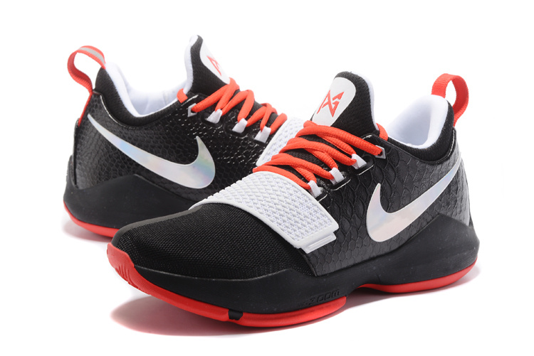 2017 Men Nike Air Zoom PG 1 Black White Red Shoes