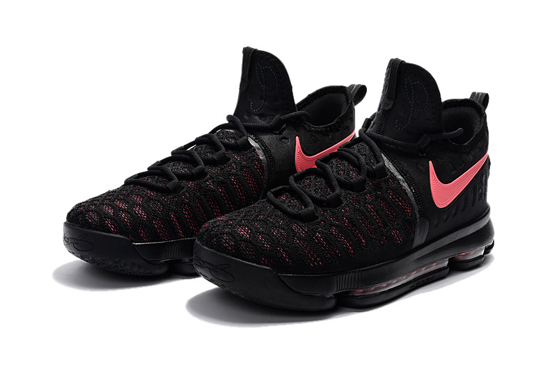 2017 Men Nike KD 9 Breast Cancer Black Pink Shoes