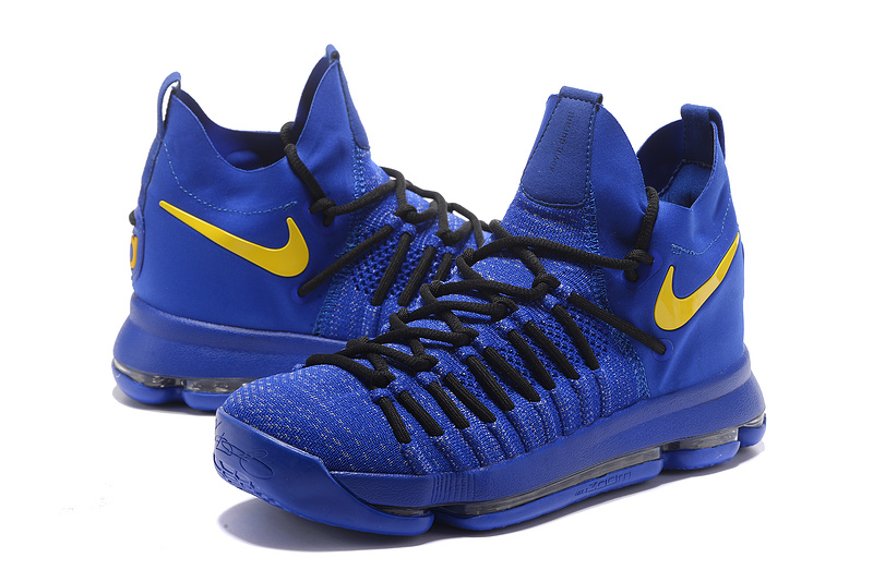 2017 Men Nike Kevin Durant 9 All Blue Black Yellow Shoes