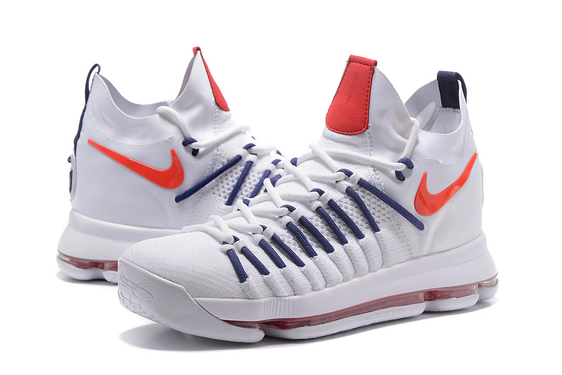 2017 Men Nike Kevin Durant 9 White Red Shoes