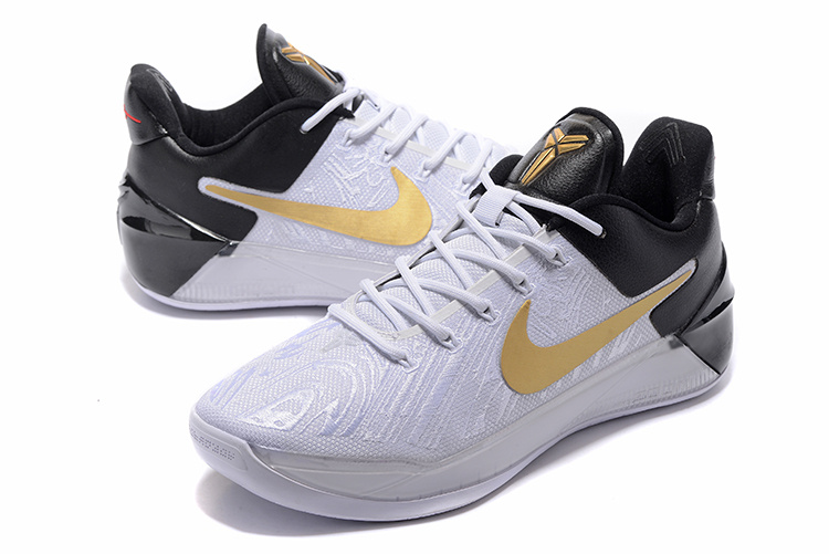 low priced 4df11 f8d78 2017 Men Nike Kobe 12 White Gold Black Shoes