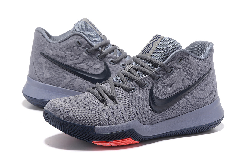new style 7a30a 5f518 2017 Men Nike Kyrie 3 Grey Black Shoes