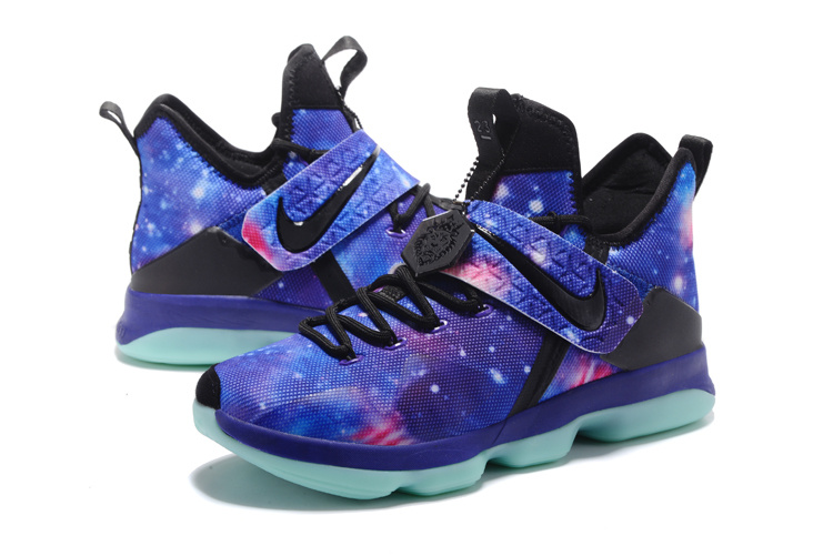 2017 Men Nike Lebron 14 Galaxy Blue Shoes