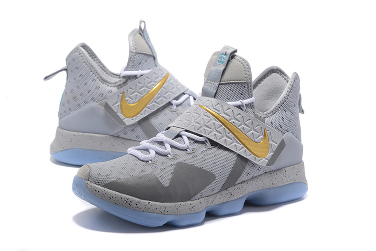 2017 Men Nike Lebron 14 Wolf Grey Shoes