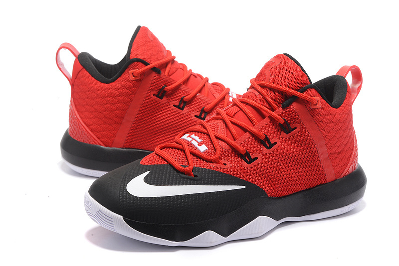 2017 Men Nike Lebron Ambassador 9 Red Black Shoes
