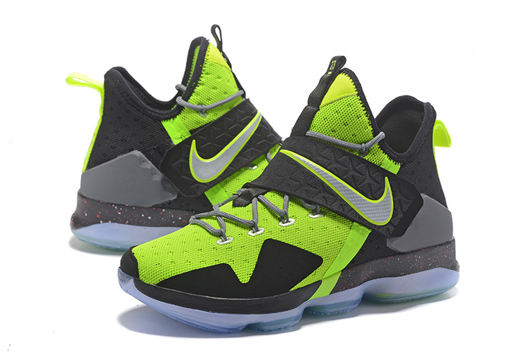 2017 Men Nike Lebron James 14 Green Black Grey Shoes