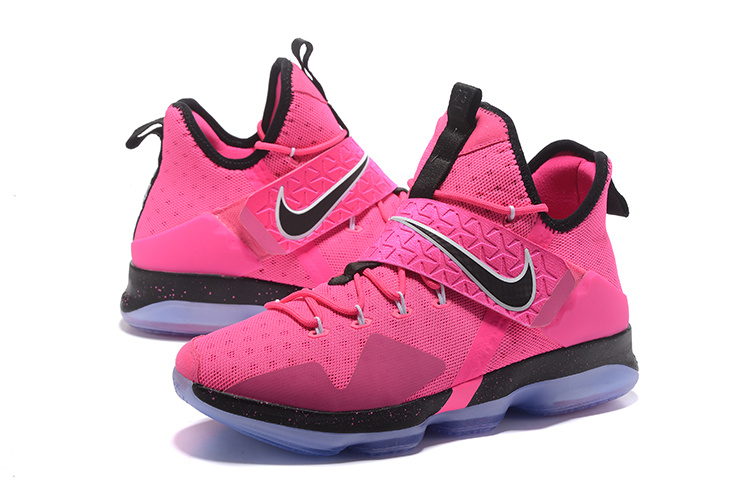 2017 Men Nike Lebron James 14 Pink Black Shoes