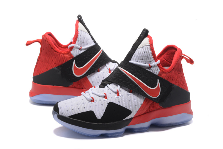 2017 Men Nike Lebron James 14 White Red Black Shoes