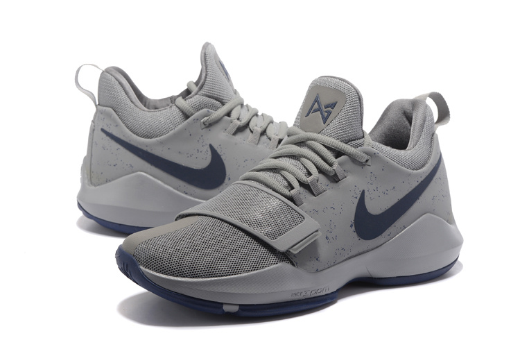 2017 Men Nike Zoom PG 1 Grey Shoes