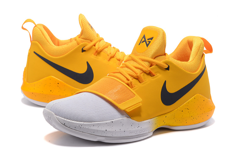 2017 Men Nike Zoom PG 1 Yellow White Shoes
