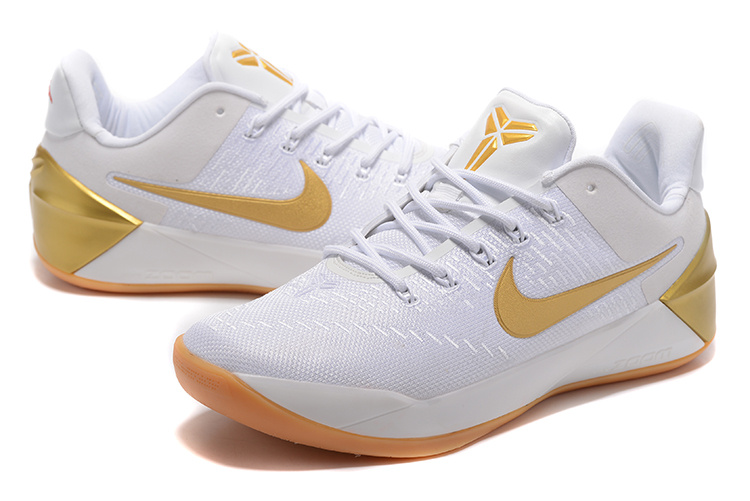ec5b19aab155 2017 Nike Kobe 12 White Yellow Gold Shoes