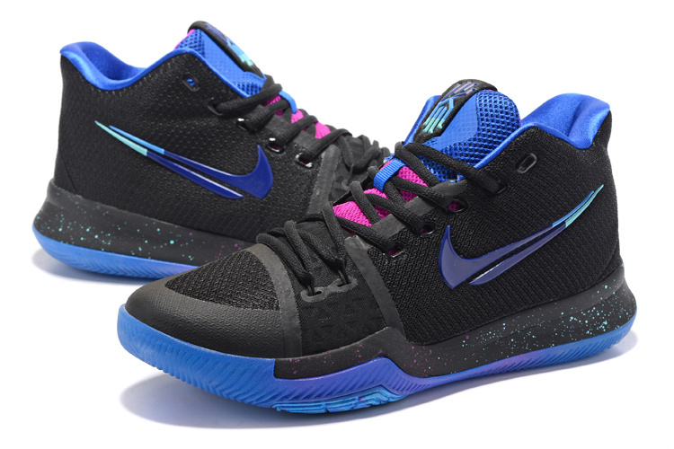 2017 Nike Kyrie Irving 3 Black Blue Shoes