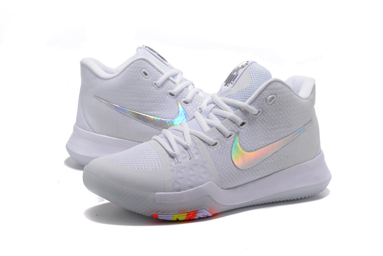 2017 Nike Kyrie Irving 3 White Colorful Shoes