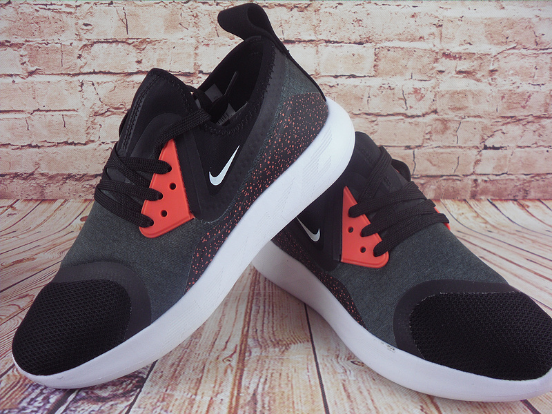 2017 Nike Lunarcharge premium LE Black Grey Red White Shoes