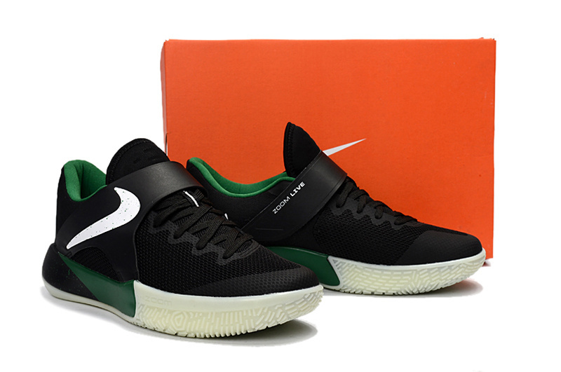 2017 Nike Zoom Basketball Shoes Black Green White