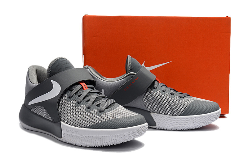 2017 Nike Zoom Basketball Shoes Grey White