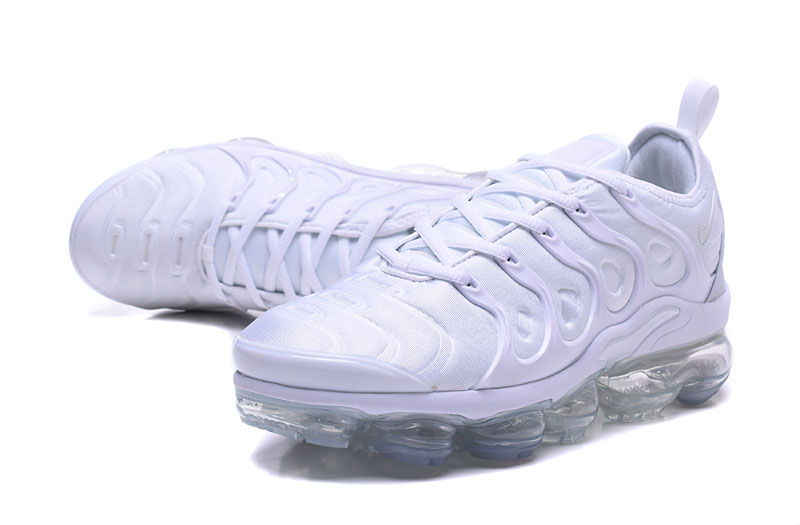 2018 Nike Air Max TN Plus All White Shoes