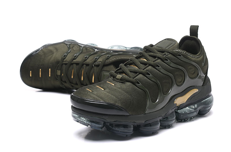 2018 Nike Air Max TN Plus Army Green Gold Shoes