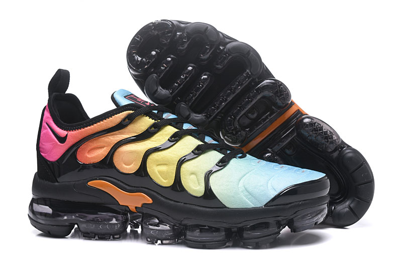 2018 Nike Air Max TN Plus Black Blue Yellow Shoes