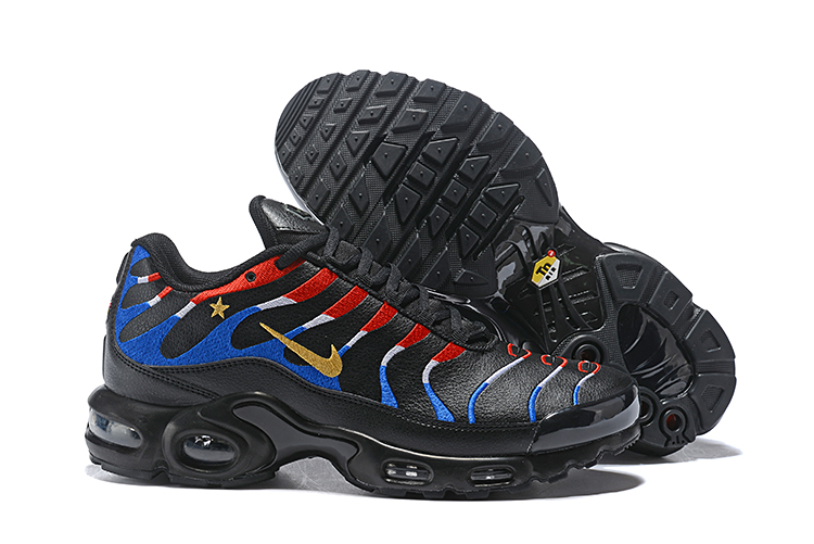 2018 Nike Air Max TN Plus Black Red Blue Shoes