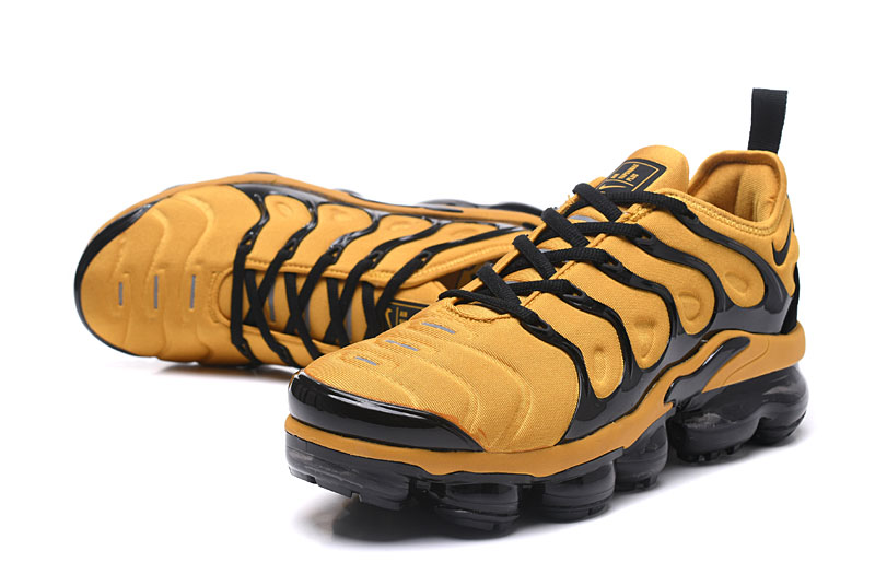 2018 Nike Air Max TN Plus Yellow Black Shoes