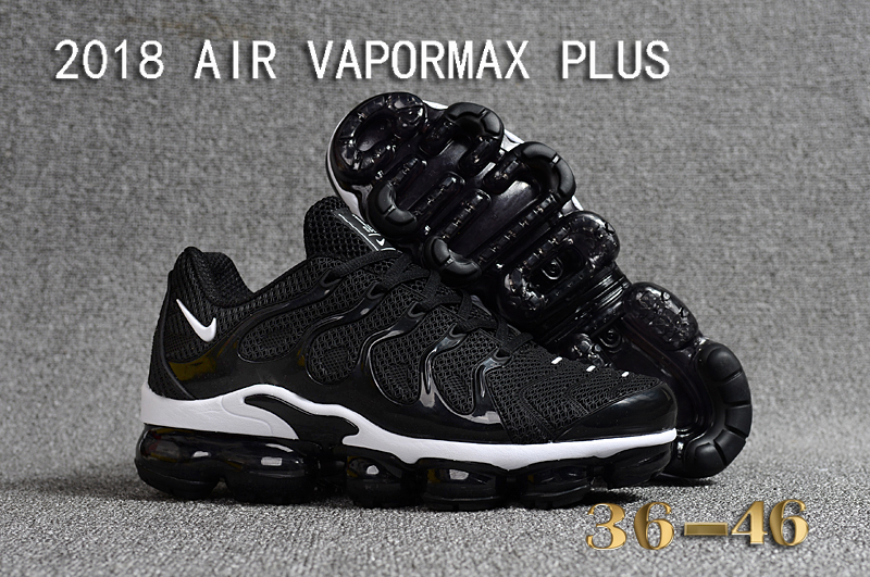 2018 Nike Air VaporMax Plus Black White Lover Shoes