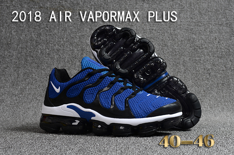 2018 Nike Air VaporMax Plus Blue Black Shoes