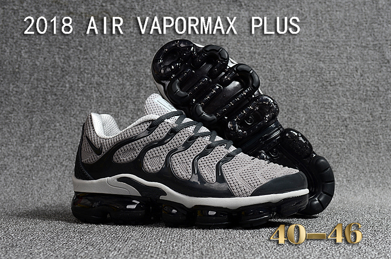 2018 Nike Air VaporMax Plus Grey Black Shoes