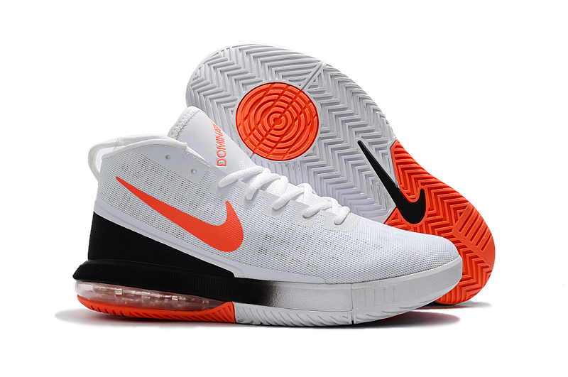 2018 NIKE AIR MAX DOMINATE EP WHITE BLACK ORANGE