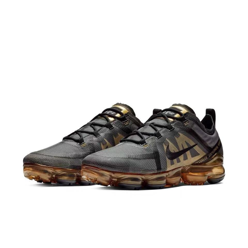 2019 Women Nike Air VaporMax Black Gold Shoes