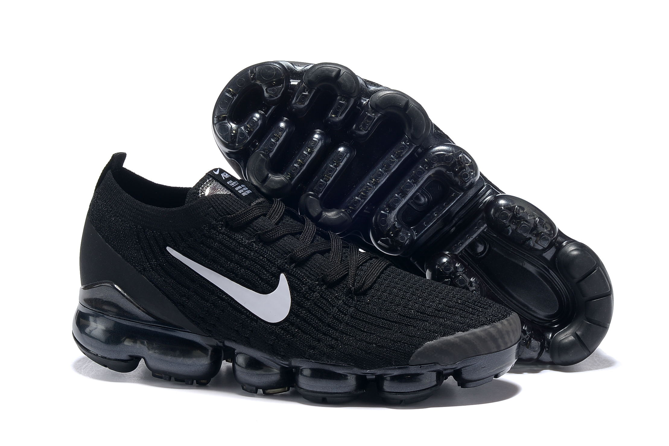2019 Women Nike Air VaporMax Flyknit 3.0 Black White Shoes