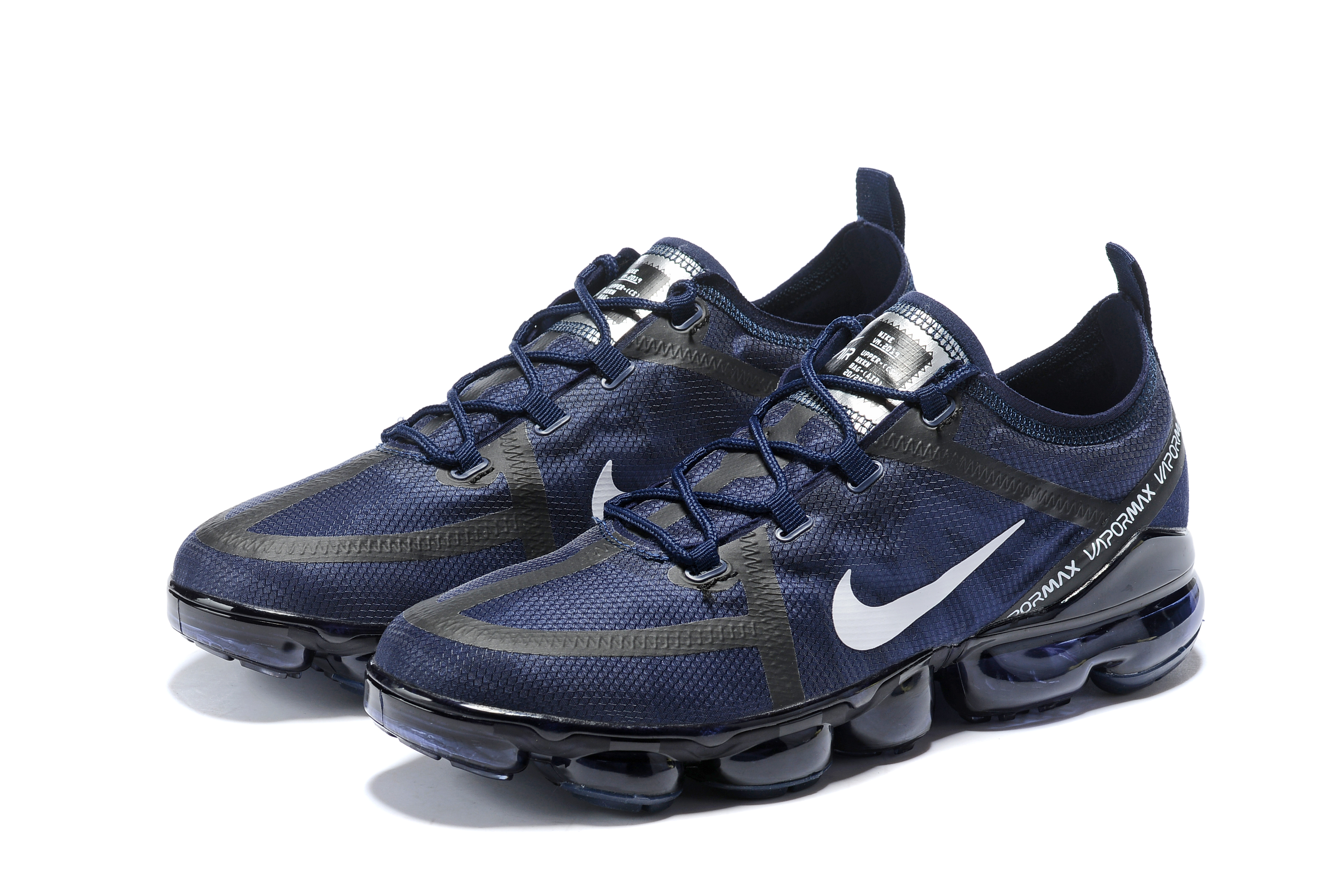 2019 Women Nike Air VaporMax Deep Blue Black White Shoes