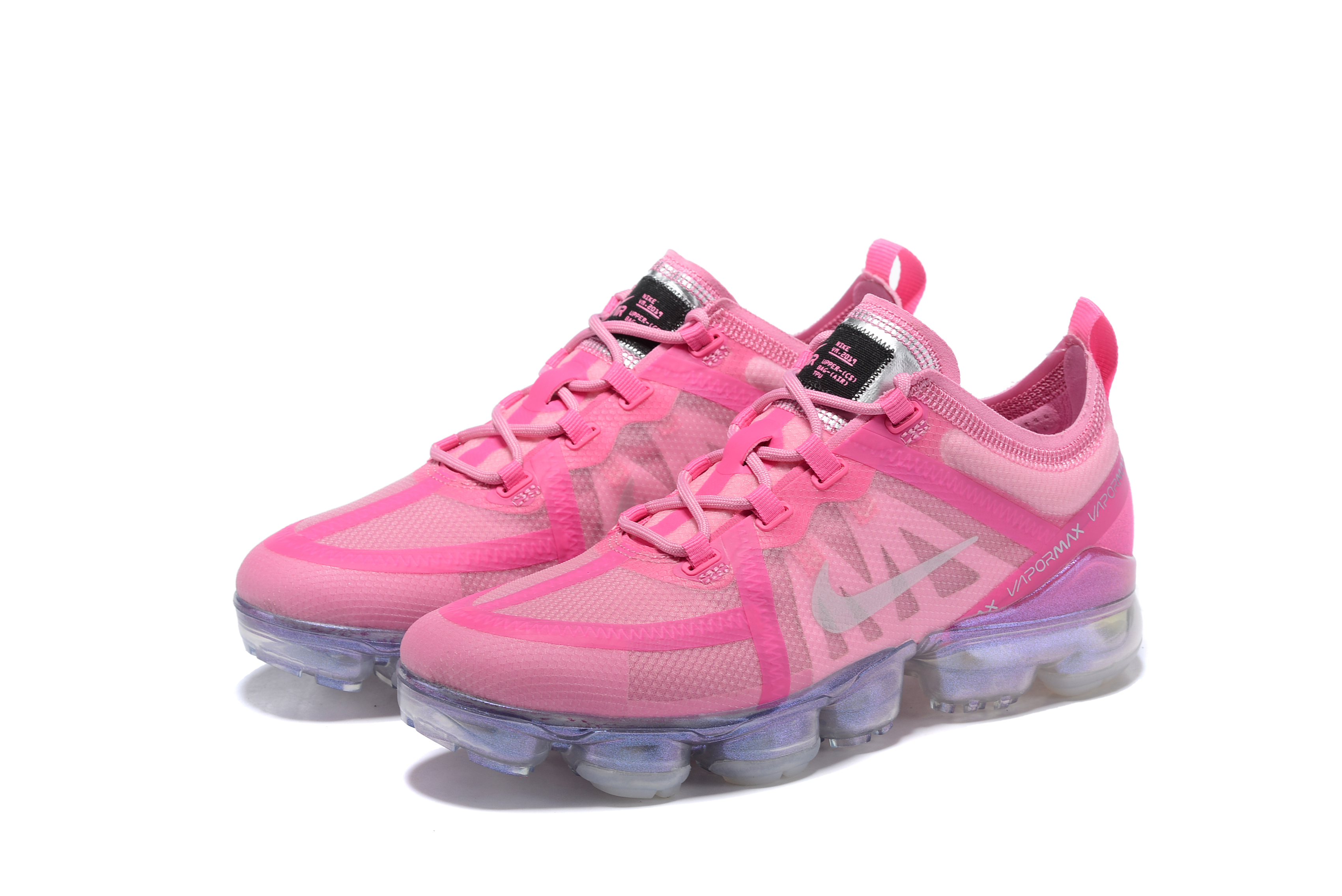2019 Nike Air VaporMax Women Pink Silver Shoes