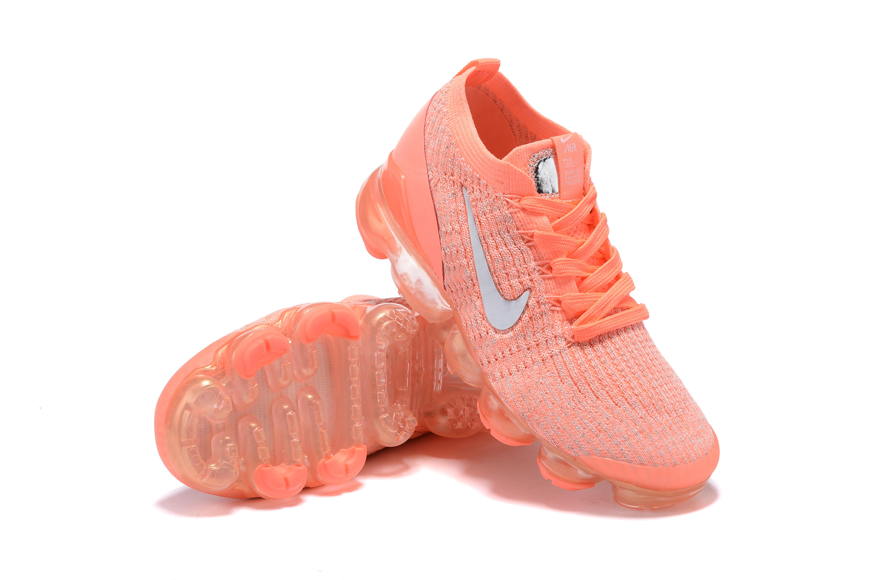 2019 Women Nie Air VaporMax Flyknit 3.0 Orange Shoes