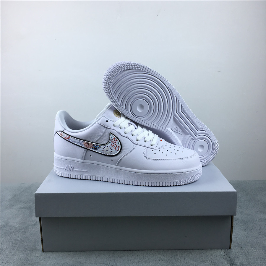 Women Air Force 1 CNY White Colorful Shoes