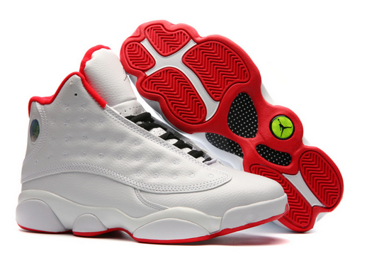 Air Jordan 13 History of Flight White Red Shoes