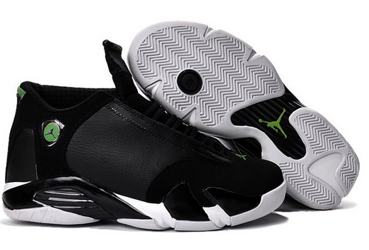 "Air Jordan 14 ""Indiglo"" Black White Shoes"