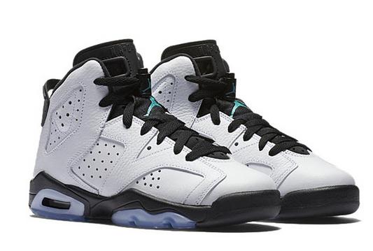 los angeles a0f79 4d764 Air Jordan 6 GS Hyper Jade Black White Shoes